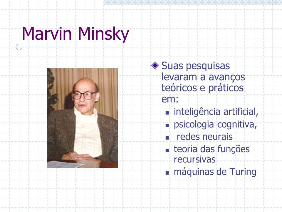 Marvin Minsky Suas pesquisas levaram a avanços teóricos e práticos em: