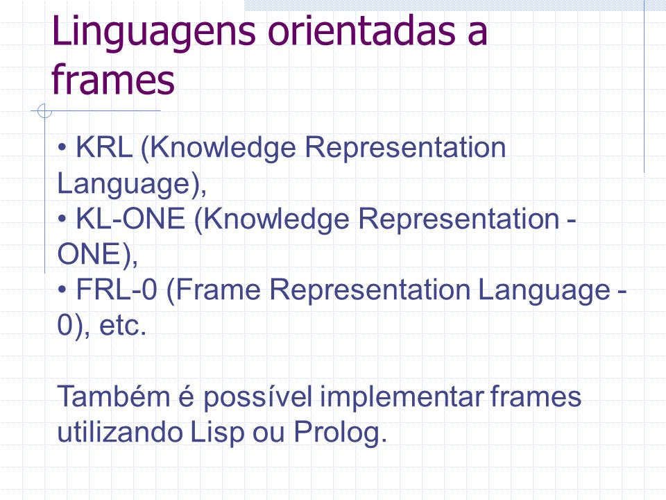 Linguagens orientadas a frames