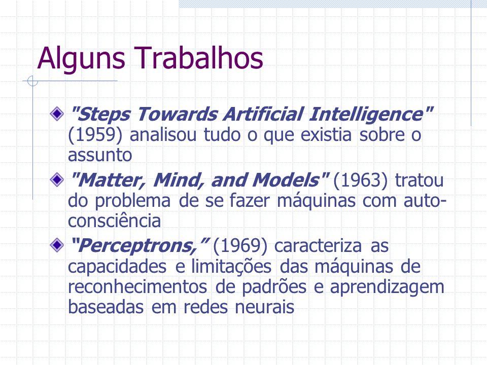Alguns Trabalhos Steps Towards Artificial Intelligence (1959) analisou tudo o que existia sobre o assunto.