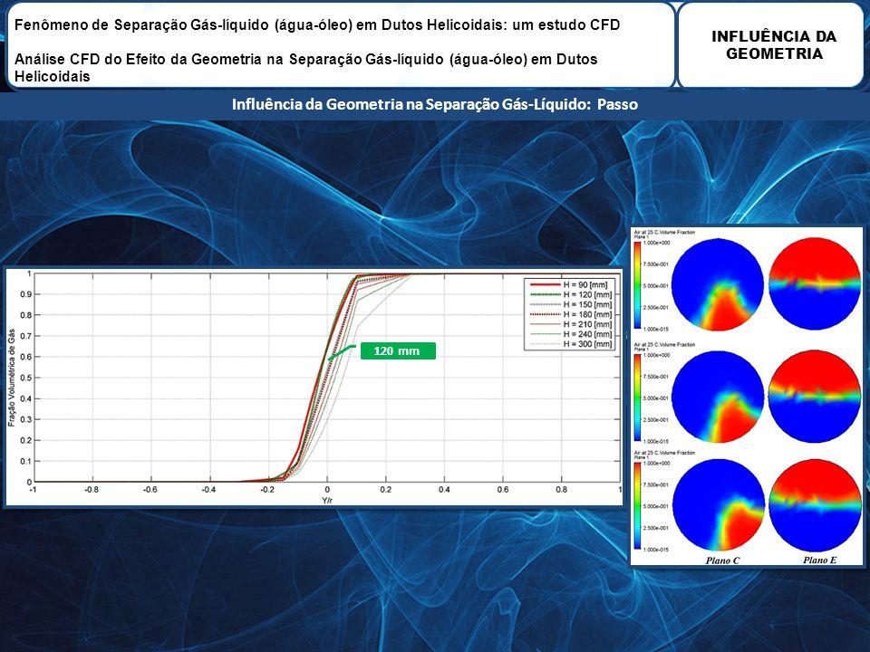 Influência da Geometria na Separação Gás-Líquido: Passo