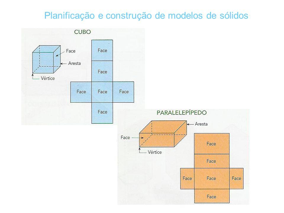 Planificação e construção de modelos de sólidos