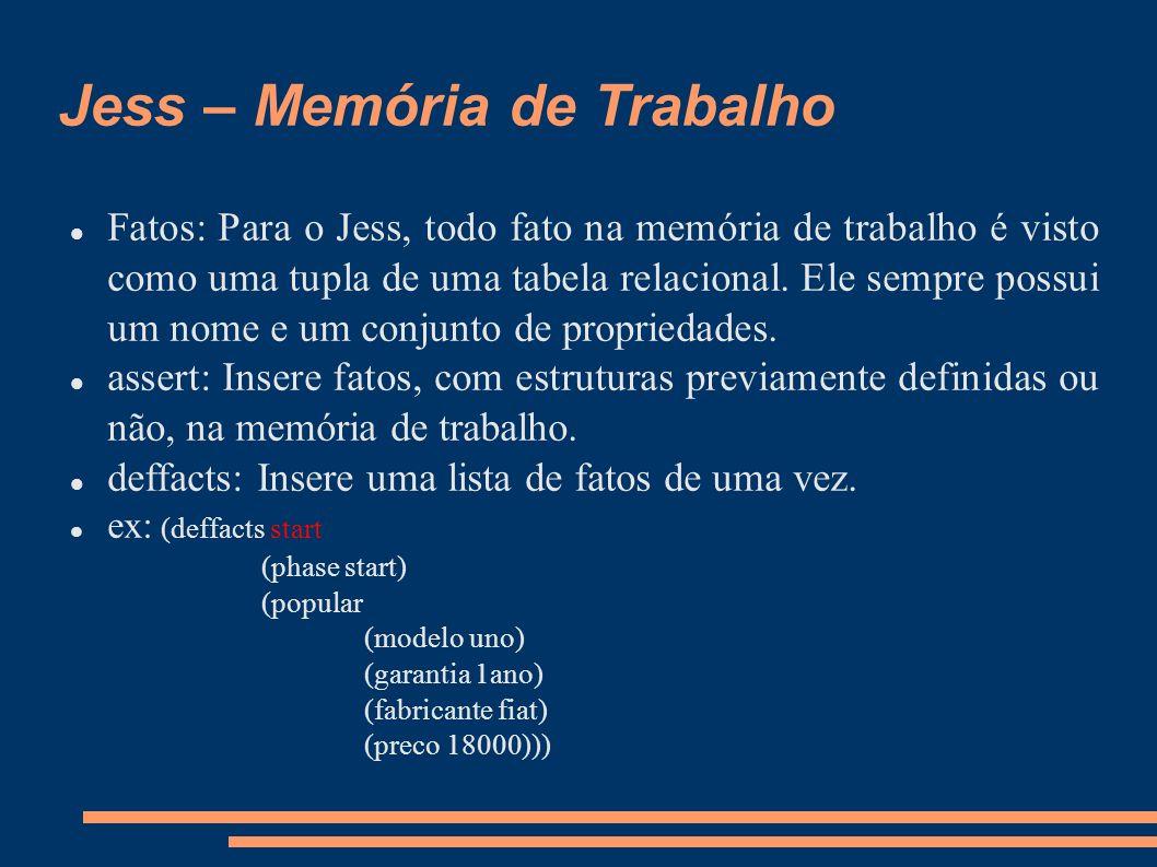 Jess – Memória de Trabalho
