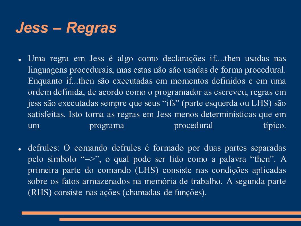 Jess – Regras