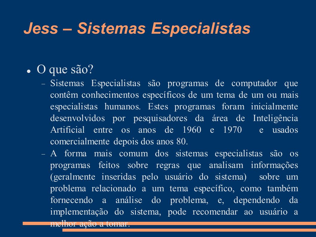 Jess – Sistemas Especialistas