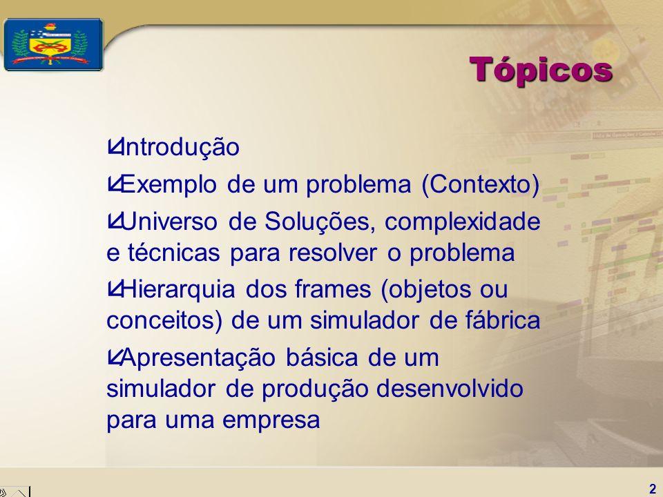 Tópicos Introdução Exemplo de um problema (Contexto)