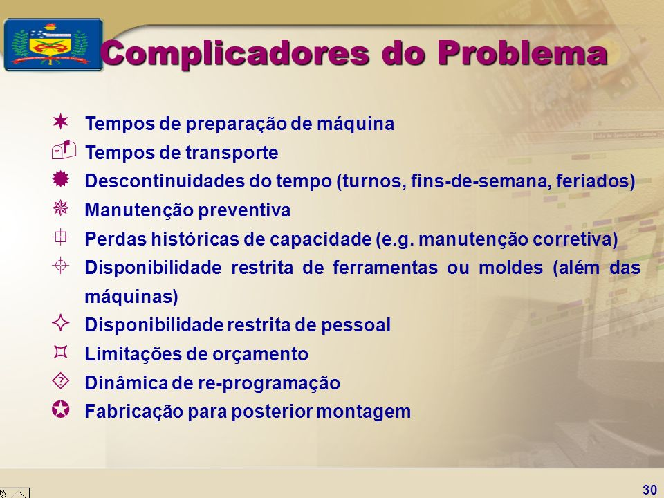 Complicadores do Problema