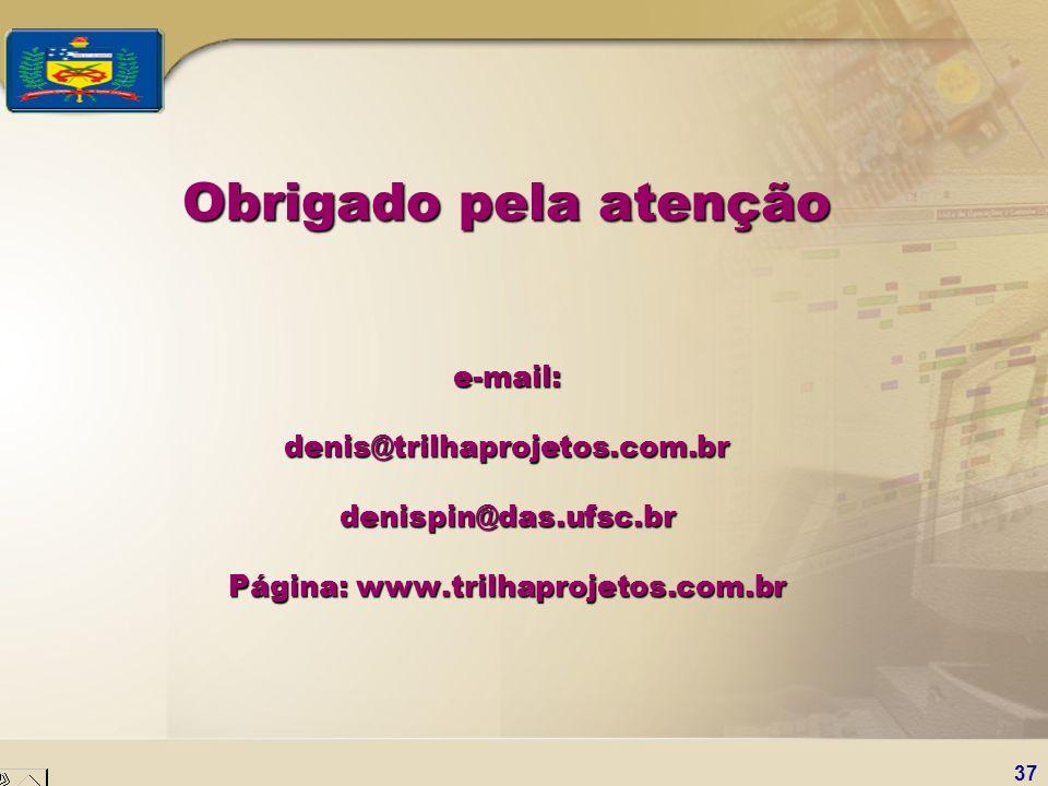Obrigado pela atenção e-mail: denis@trilhaprojetos. com