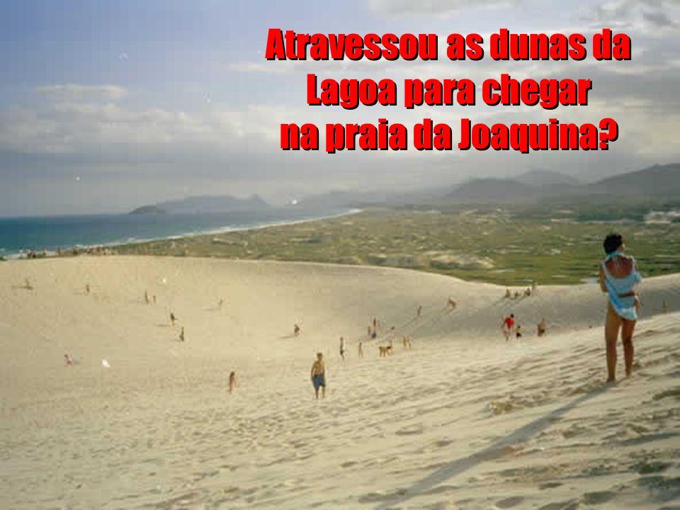 Atravessou as dunas da Lagoa para chegar na praia da Joaquina