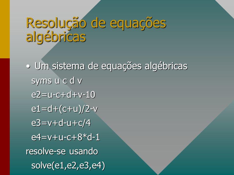 Resolução de equações algébricas