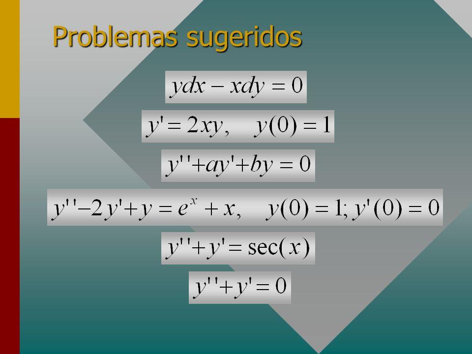 Problemas sugeridos