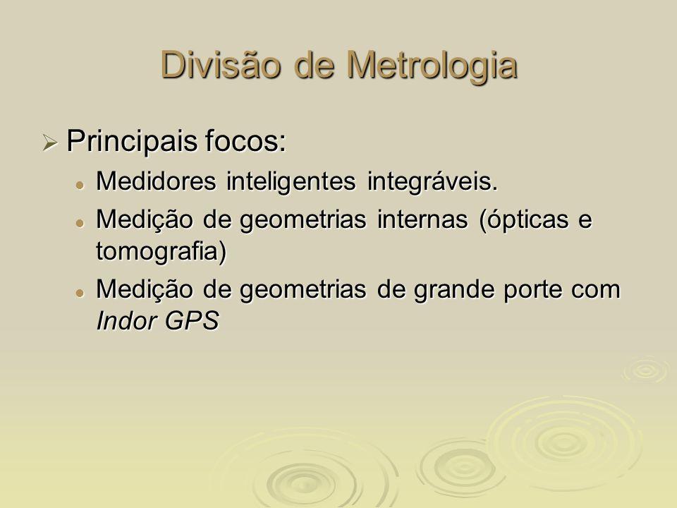 Divisão de Metrologia Principais focos: