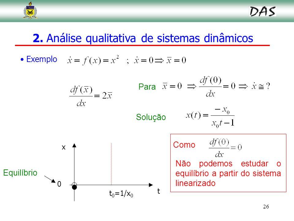 2. Análise qualitativa de sistemas dinâmicos