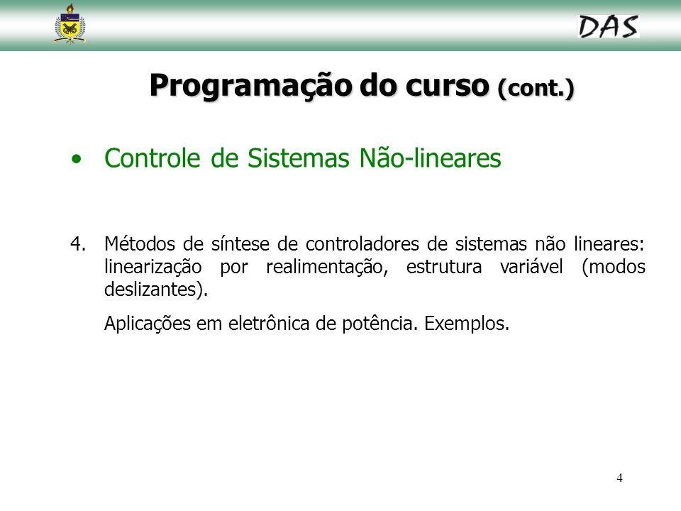 Programação do curso (cont.)