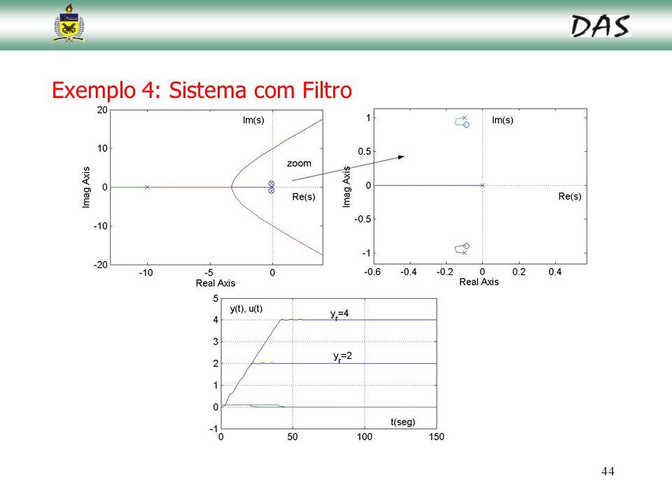 Exemplo 4: Sistema com Filtro