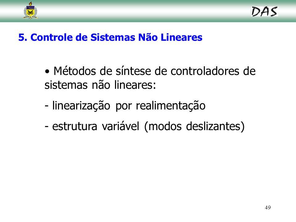 Métodos de síntese de controladores de sistemas não lineares: