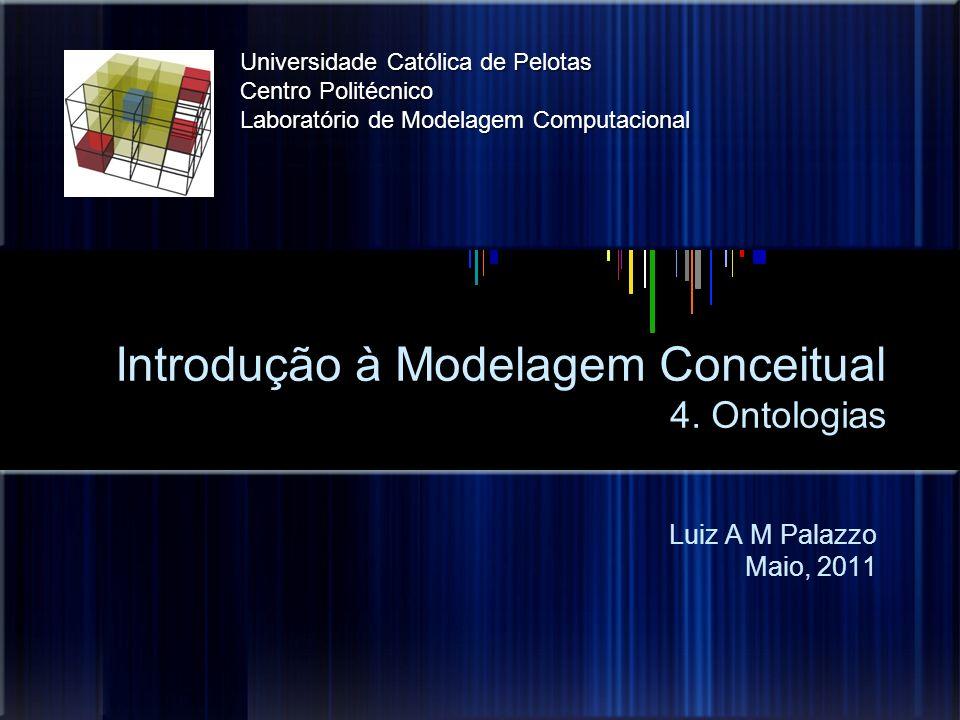 Introdução à Modelagem Conceitual 4. Ontologias