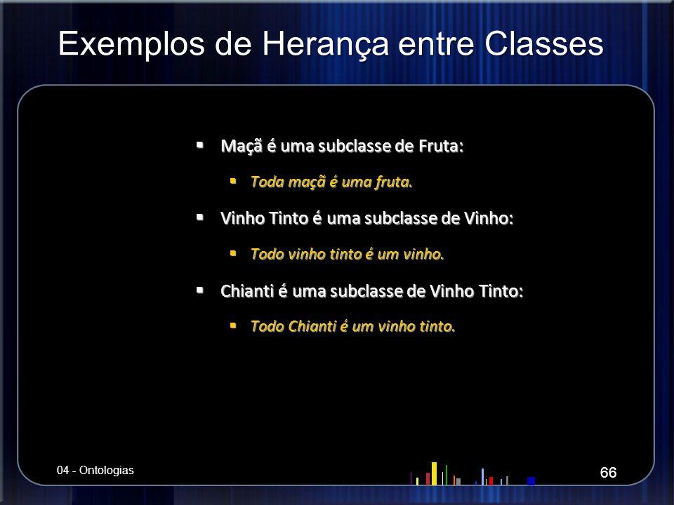 Exemplos de Herança entre Classes