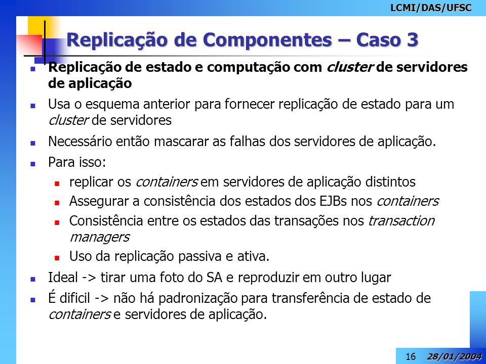 Replicação de Componentes – Caso 3