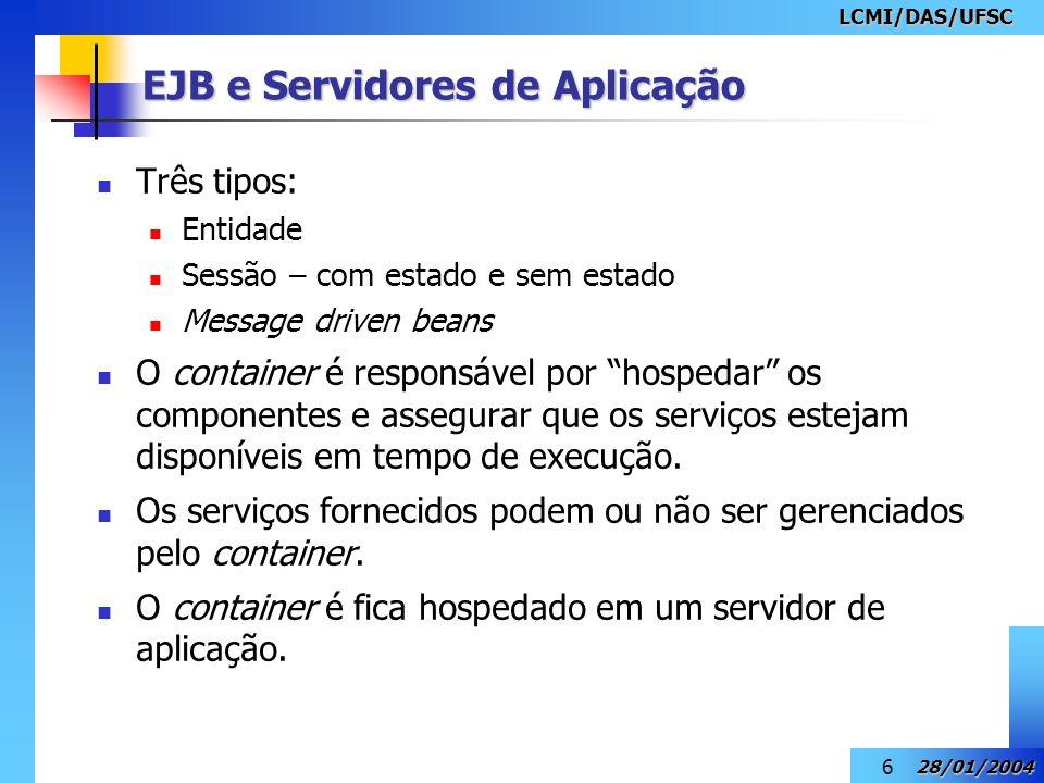 EJB e Servidores de Aplicação