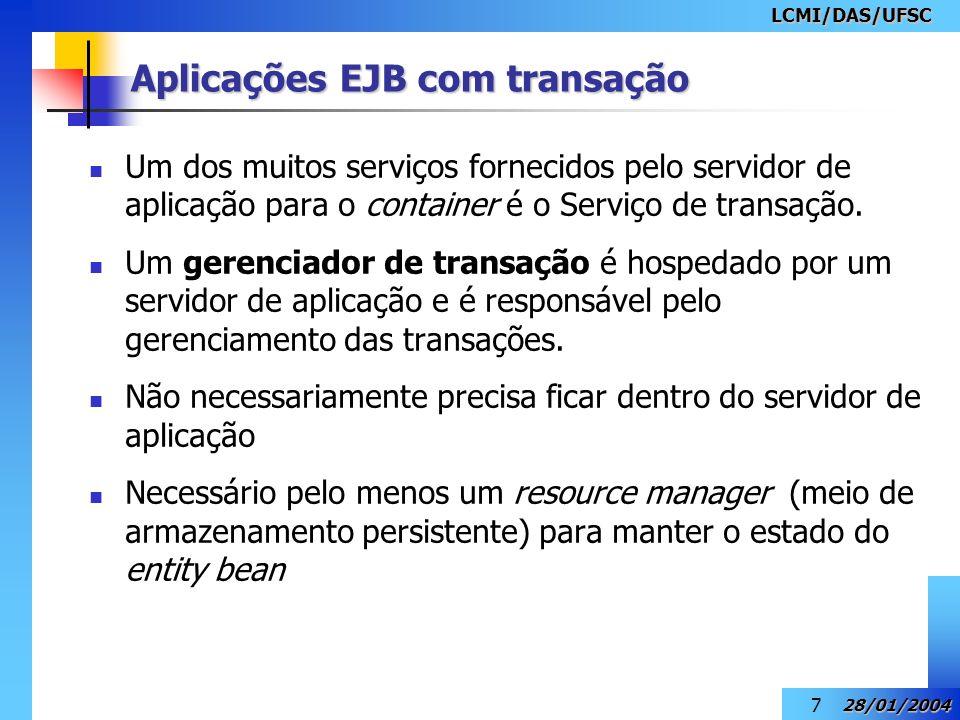 Aplicações EJB com transação