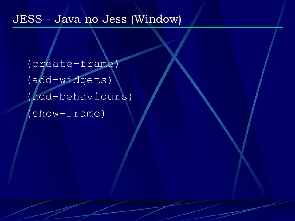 JESS - Java no Jess (Window)