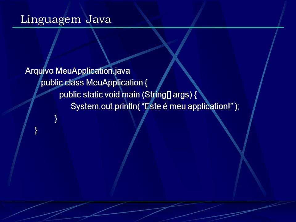 Linguagem Java Arquivo MeuApplication.java