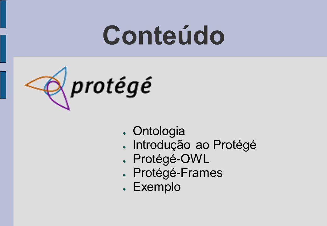 Conteúdo Ontologia Introdução ao Protégé Protégé-OWL Protégé-Frames