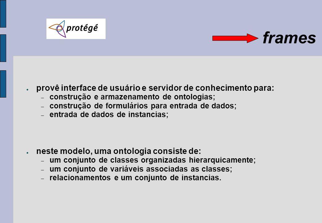 frames provê interface de usuário e servidor de conhecimento para: