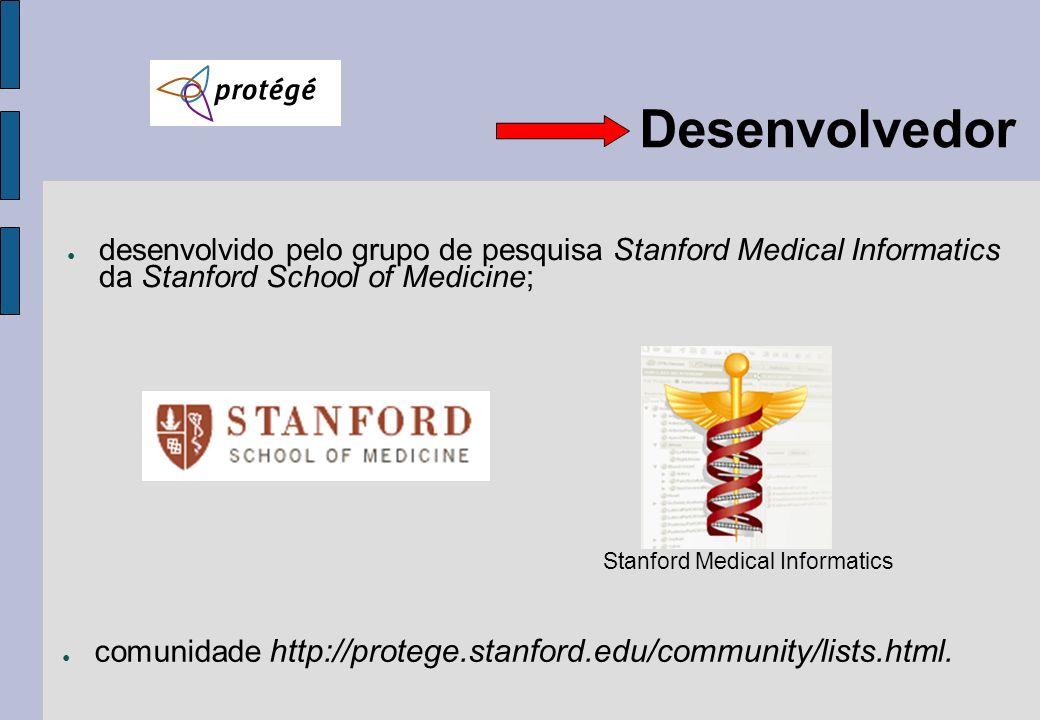 Desenvolvedordesenvolvido pelo grupo de pesquisa Stanford Medical Informatics da Stanford School of Medicine;