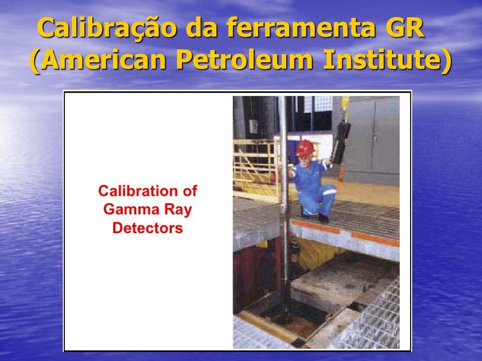 Calibração da ferramenta GR (American Petroleum Institute)