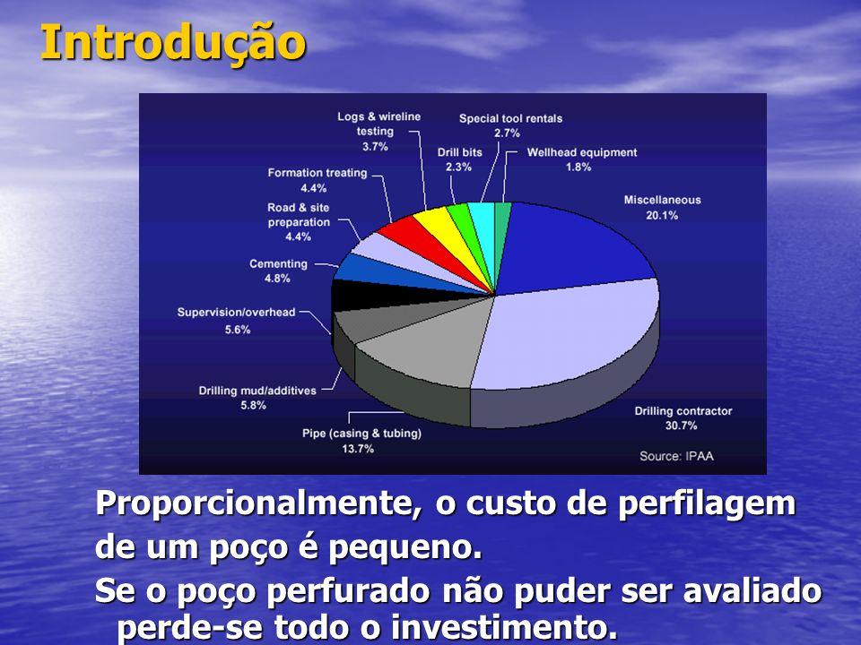 Introdução Proporcionalmente, o custo de perfilagem