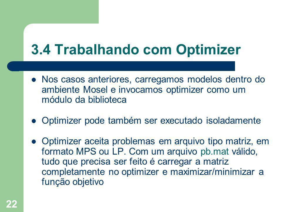 3.4 Trabalhando com Optimizer