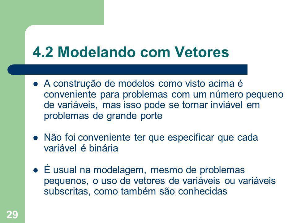 4.2 Modelando com Vetores