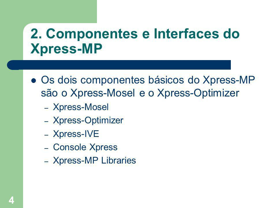 2. Componentes e Interfaces do Xpress-MP