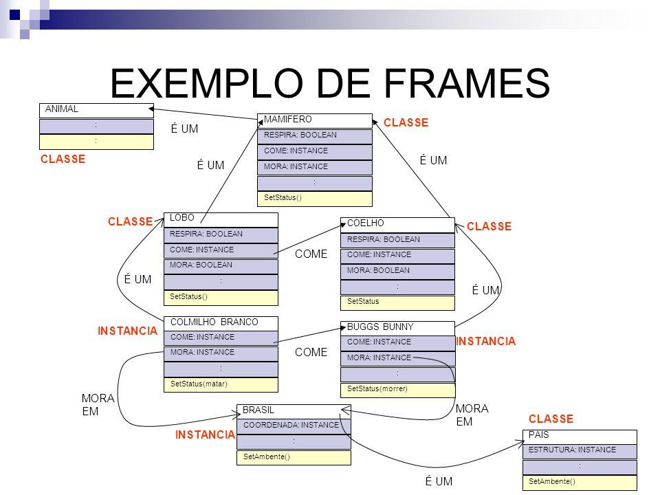 EXEMPLO DE FRAMES CLASSE É UM CLASSE É UM É UM CLASSE CLASSE COME É UM