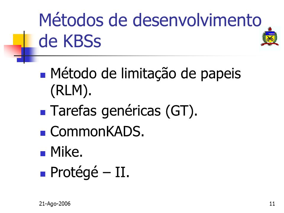 Métodos de desenvolvimento de KBSs