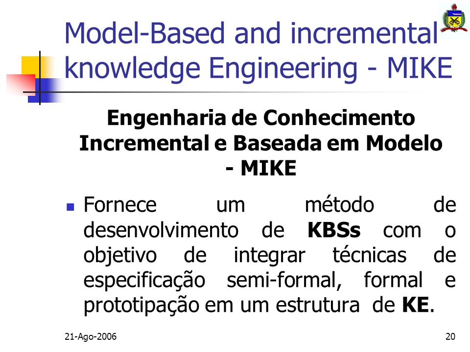 Model-Based and incremental knowledge Engineering - MIKE