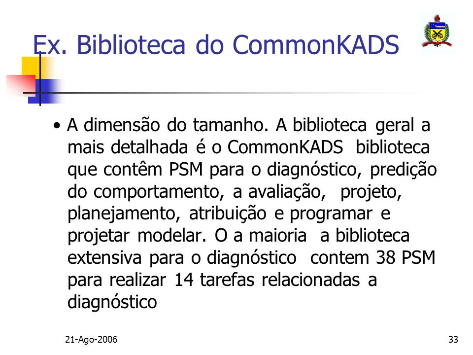 Ex. Biblioteca do CommonKADS