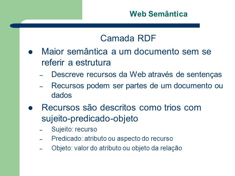 Maior semântica a um documento sem se referir a estrutura