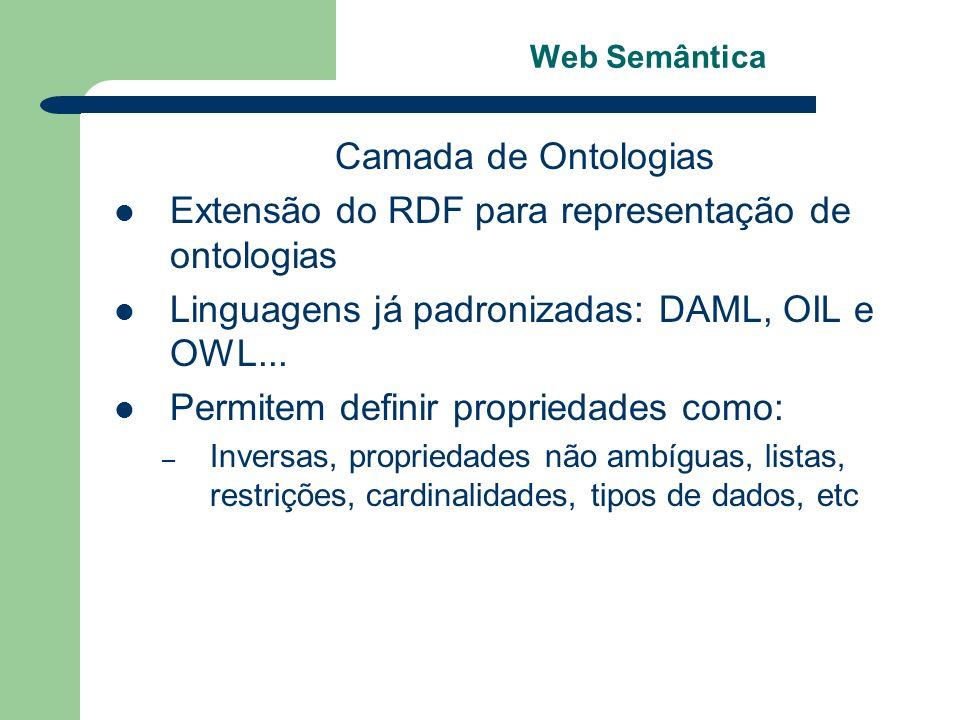 Extensão do RDF para representação de ontologias
