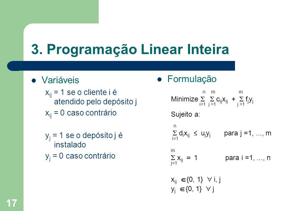 3. Programação Linear Inteira