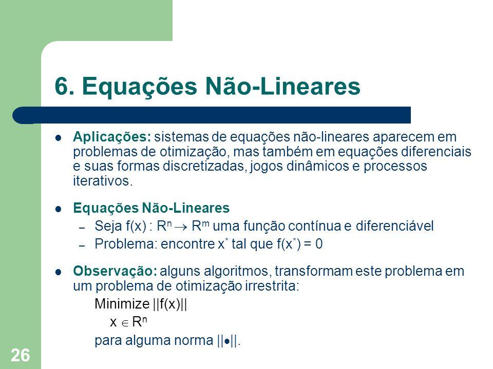 6. Equações Não-Lineares