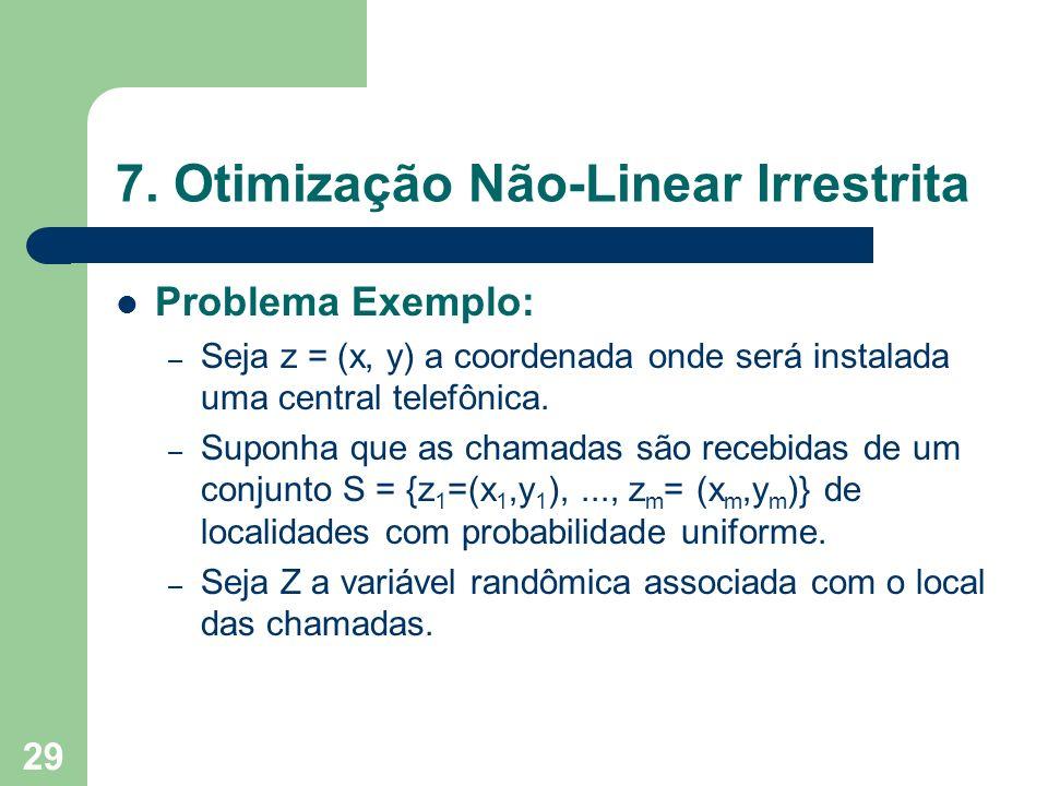 7. Otimização Não-Linear Irrestrita