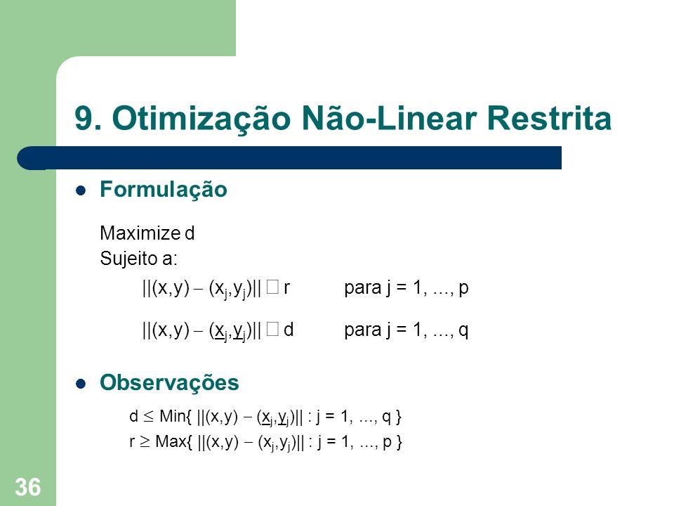 9. Otimização Não-Linear Restrita