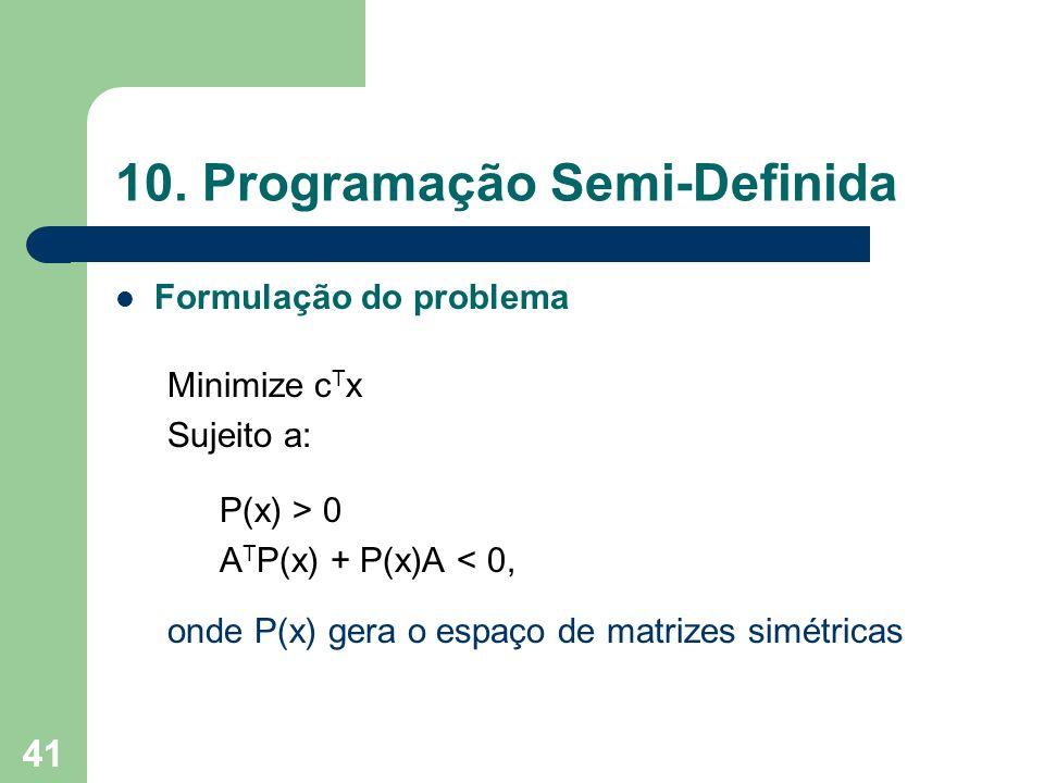 10. Programação Semi-Definida