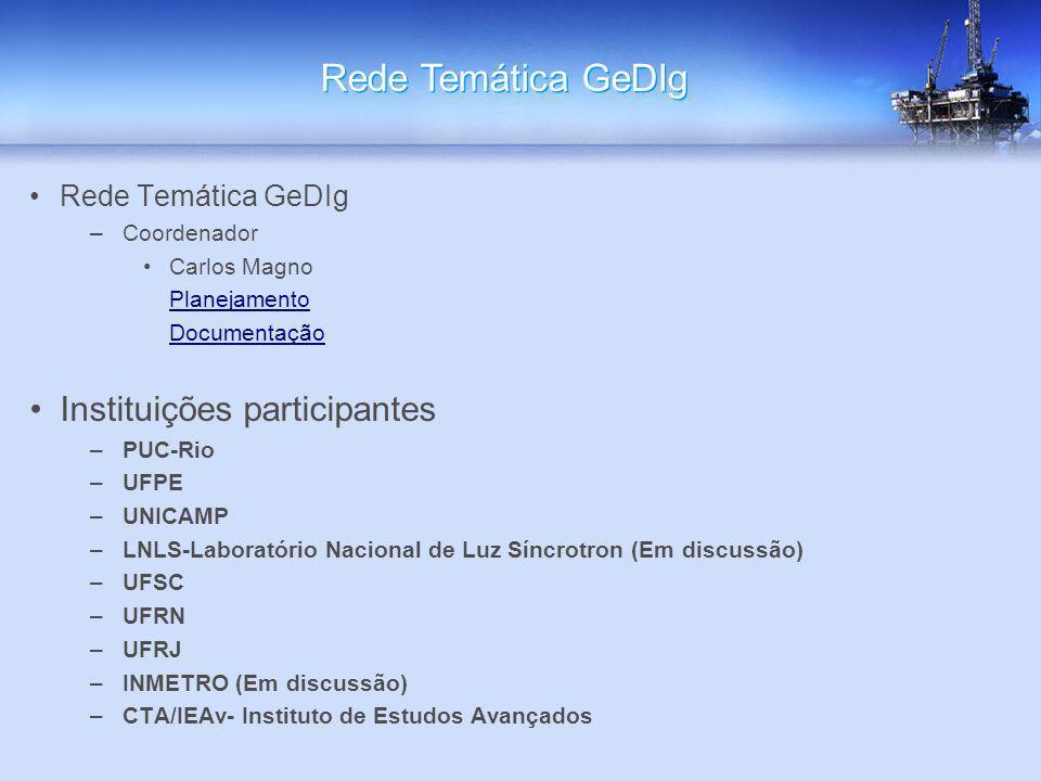 Rede Temática GeDIg Instituições participantes Rede Temática GeDIg