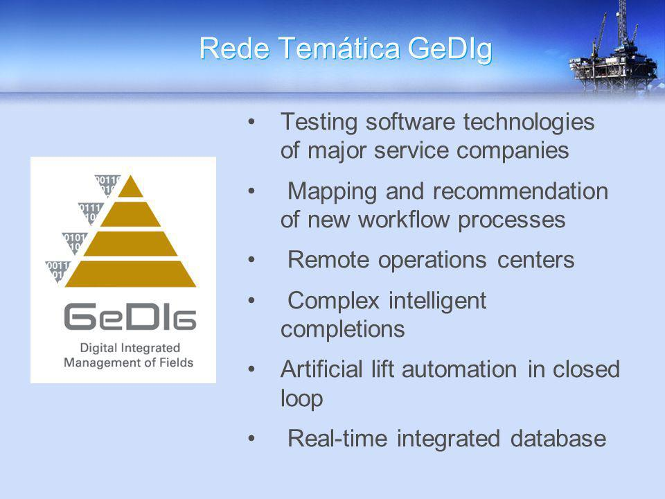 Rede Temática GeDIg Testing software technologies of major service companies. Mapping and recommendation of new workflow processes.