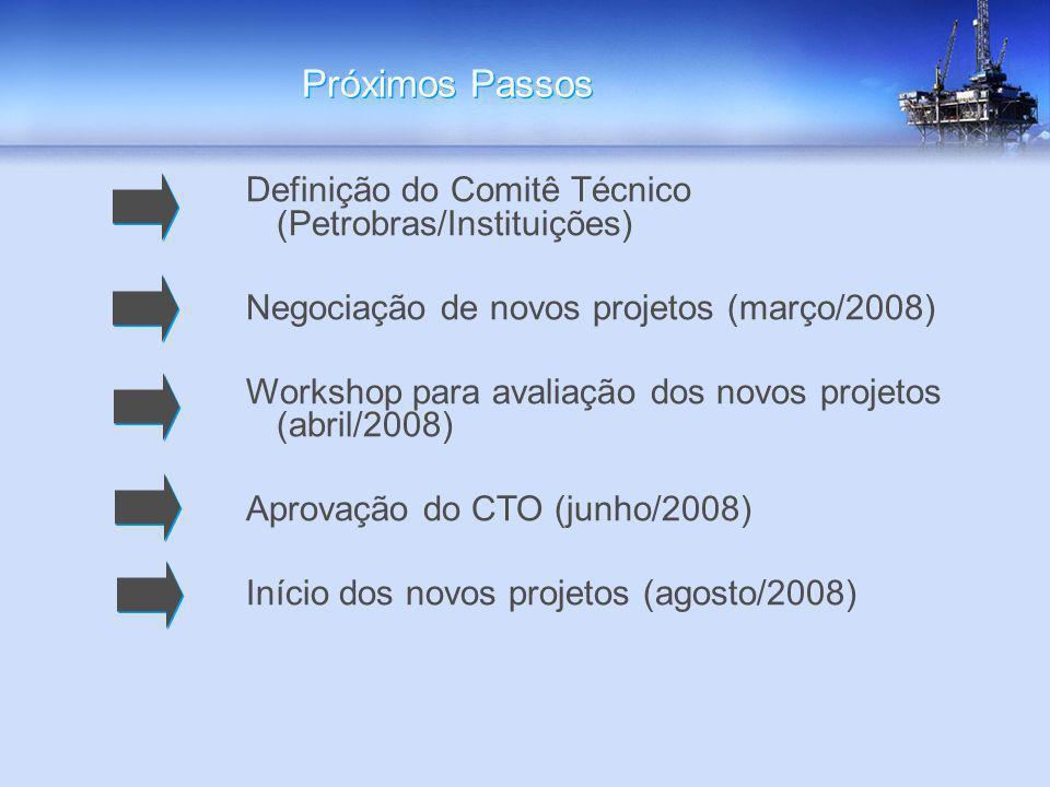 Próximos Passos Definição do Comitê Técnico (Petrobras/Instituições)