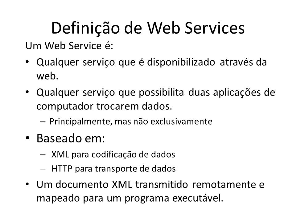 Definição de Web Services