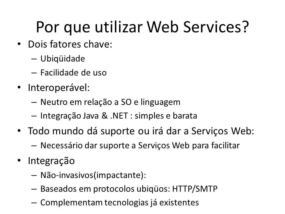 Por que utilizar Web Services